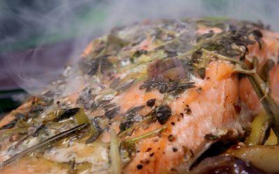 Lachs im Ofen mit Fenchelsalat (nach Tetsuya Wakuda)