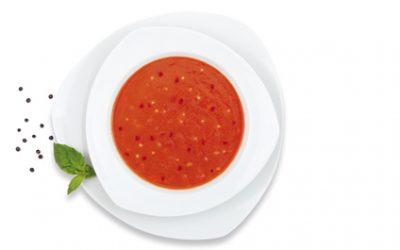 Tomatensuppe mit Mais und Avocado